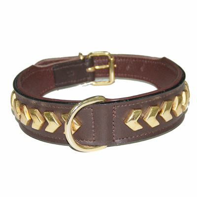 Collar Leather Berlin DeLuxe Brown