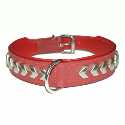 Collar Leather Berlin DeLuxe Red