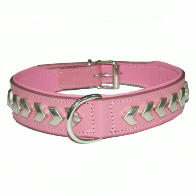 Collar Leather Berlin DeLuxe Pink