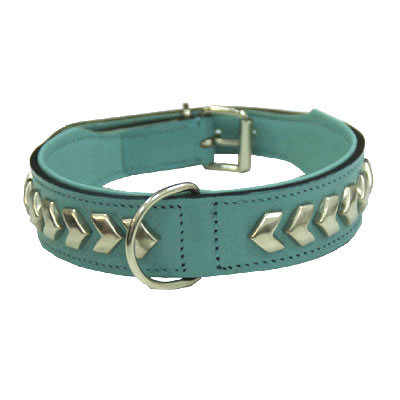 Collar Leather Berlin DeLuxe Turquoise