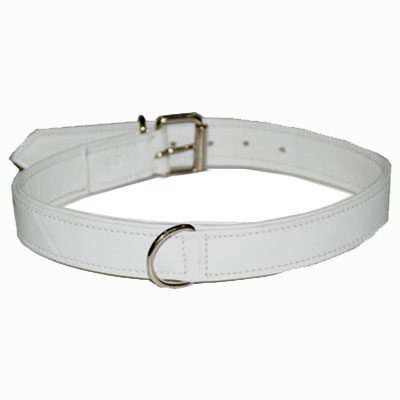 Collar Soft Leather White