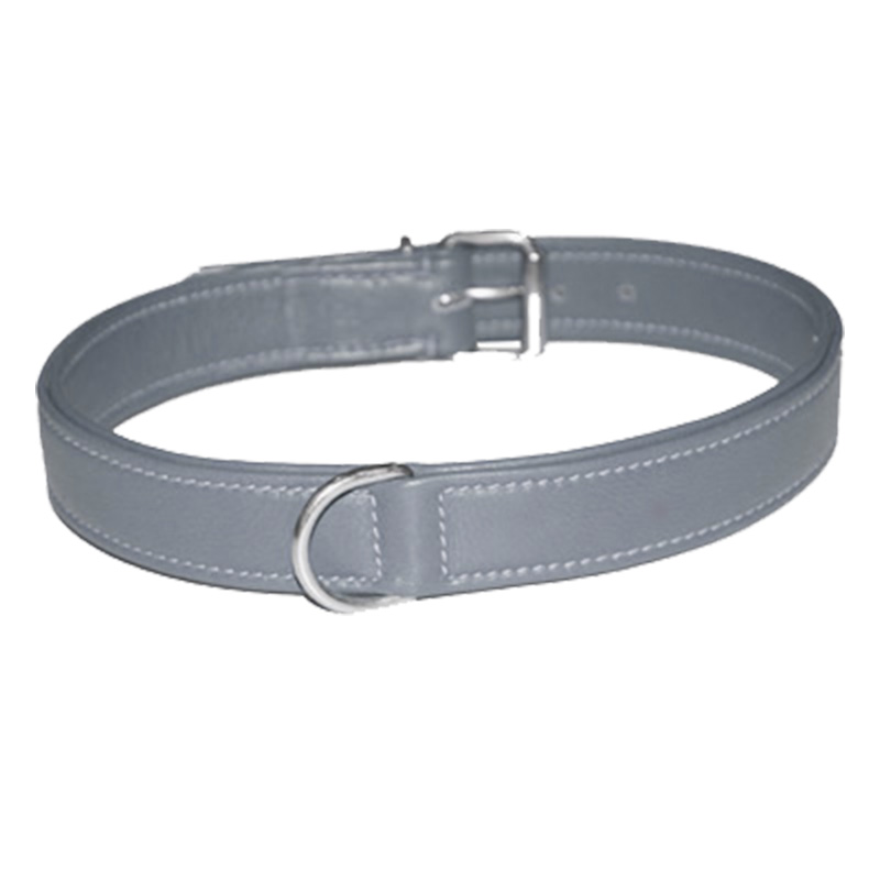 Collar Soft Leather Grey