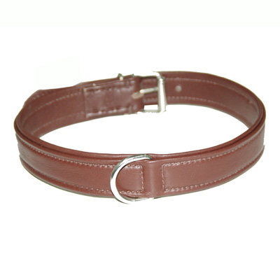 Collar Soft Leather Dark Brown