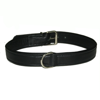 Collar Soft Leather Black