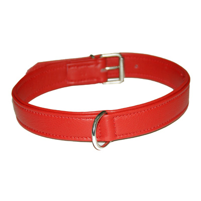 Collar Soft Leather Red
