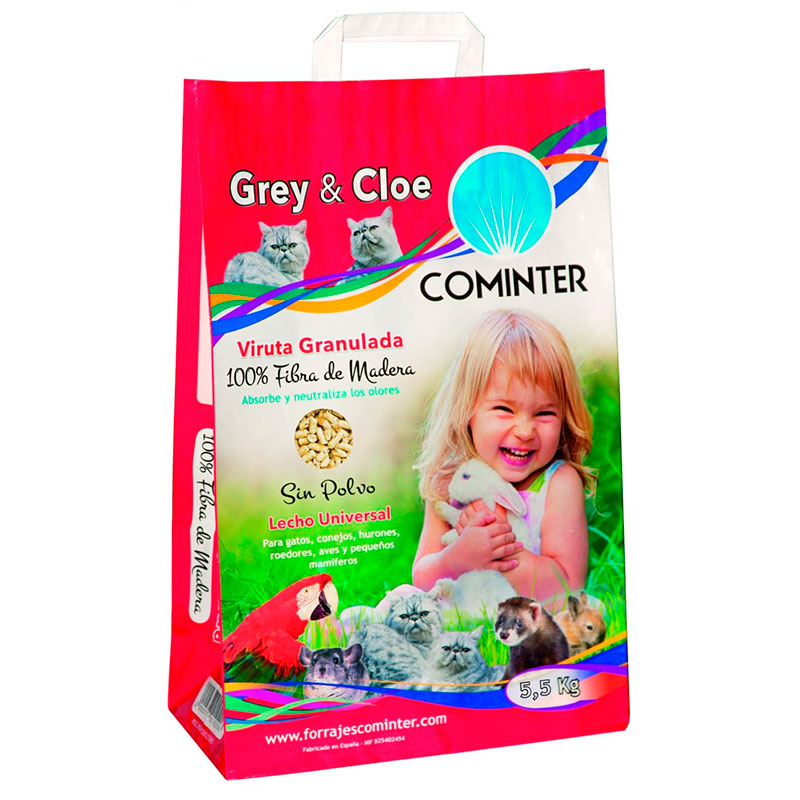 Cominter Granulated Chip Litter Grey & Cloe