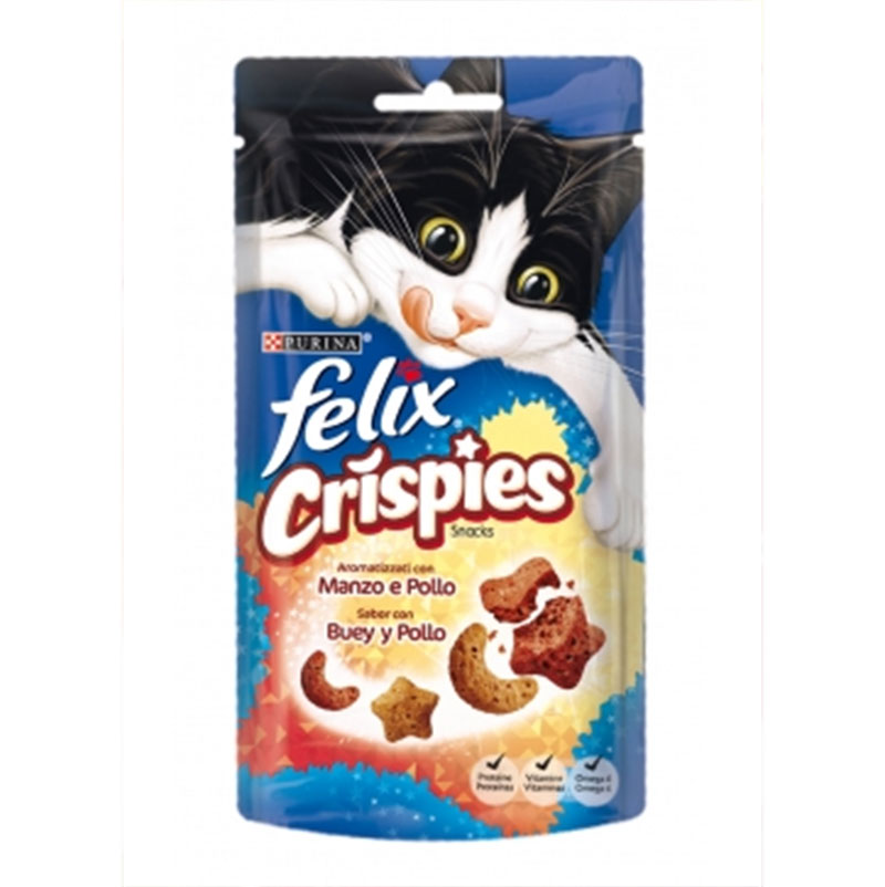 Felix Party Crispies sabor Buey y Pollo 45g