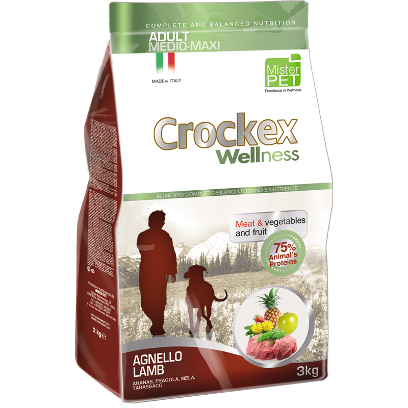 Crockex Wellnes Medium - Maxi Adult Cordero Y Arroz