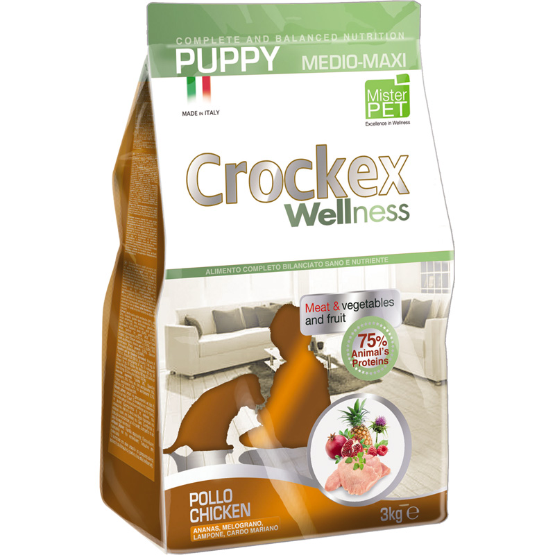 Crockex Puppy Pollo y Arroz Medium - Maxi