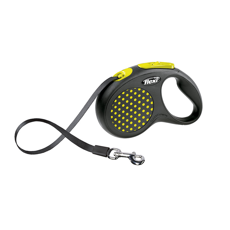 Retractable Leash flexi NEW DESIGN Compact Yellow
