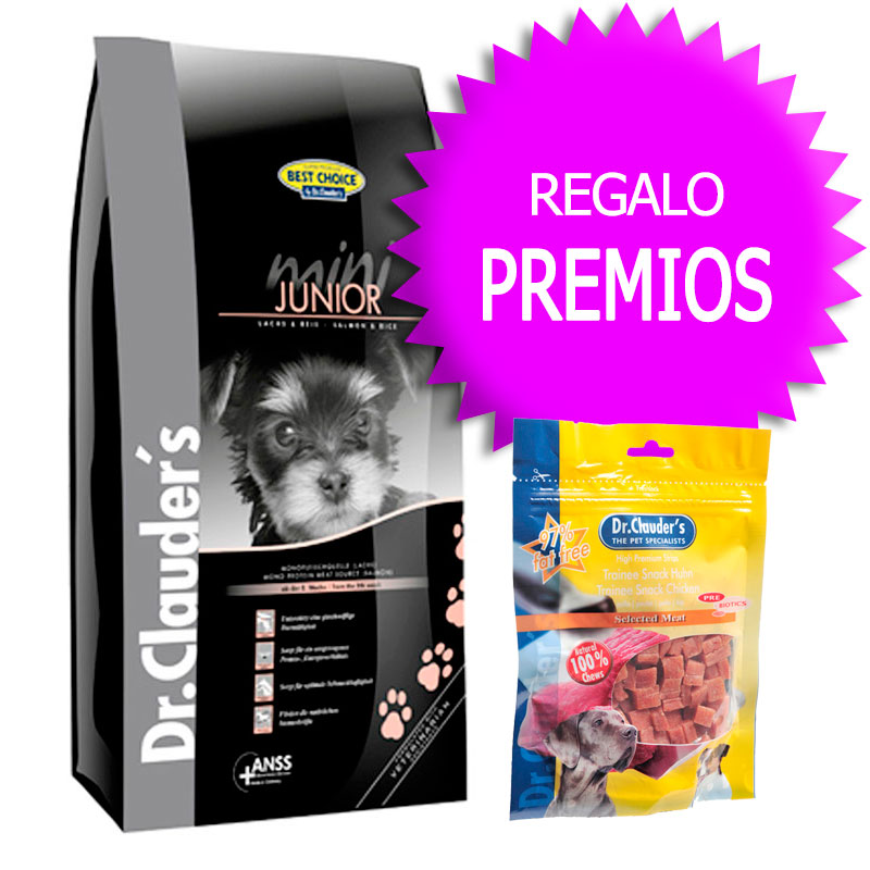 Dr Clauder Best Choice Sensitive Mini Junior Salmón y Arroz