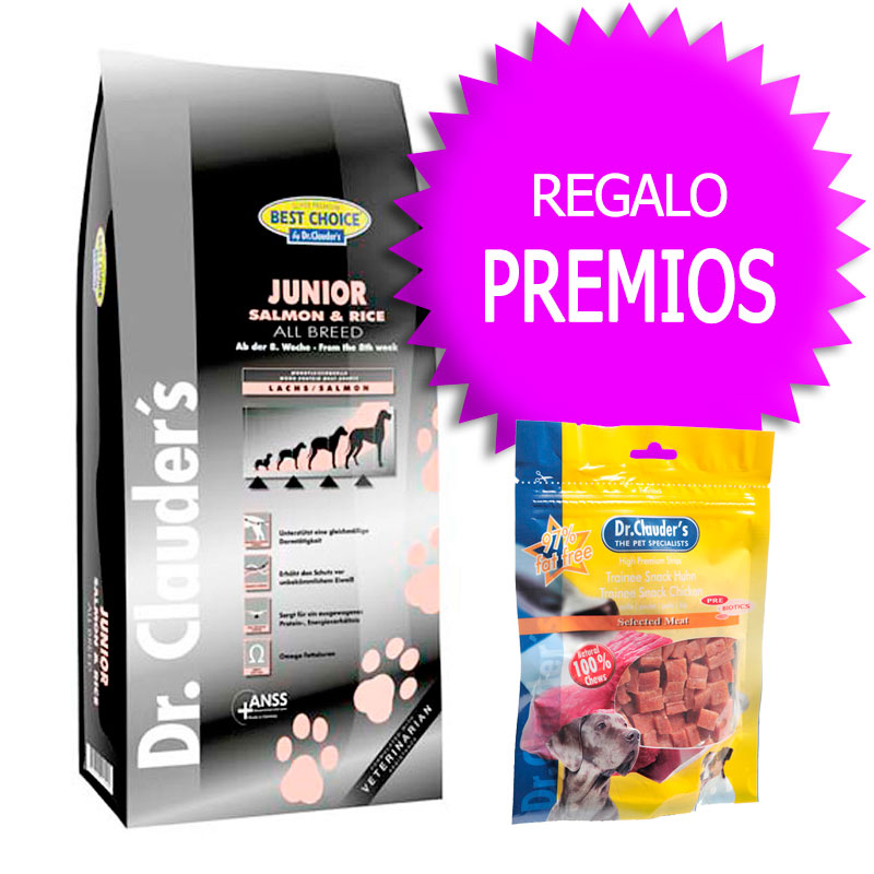 Dr Clauder Best Choice Sensitive Junior Salmón y Arroz