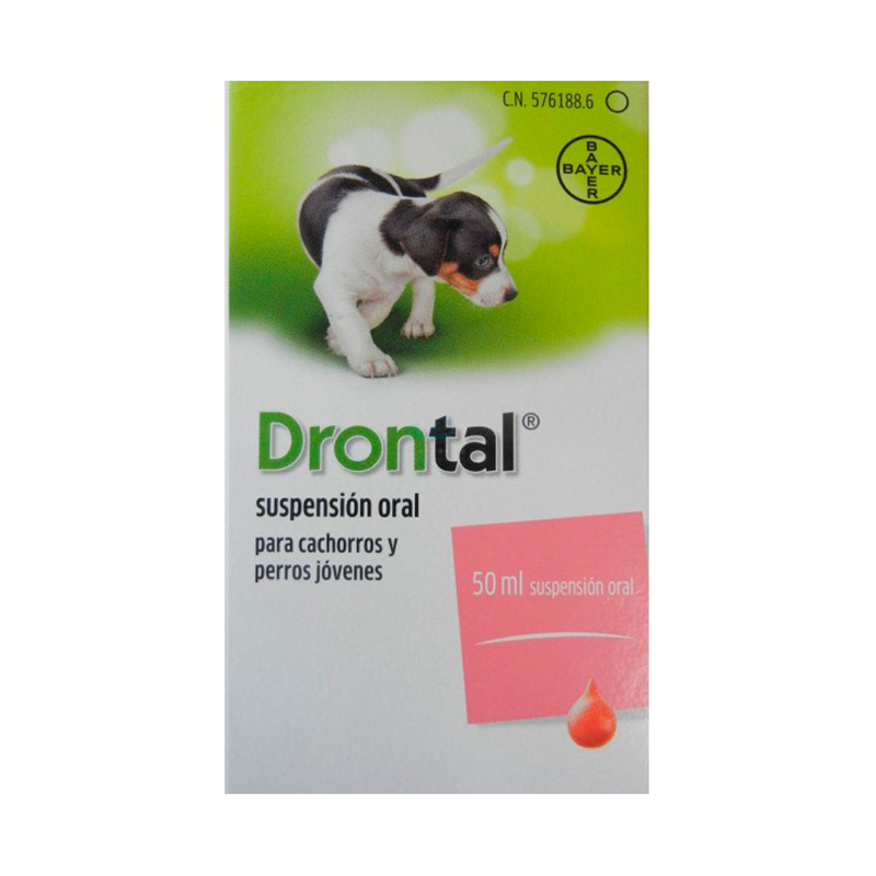 Antiparasitario Interno Drontal Plus Suspensión Oral Cachorros