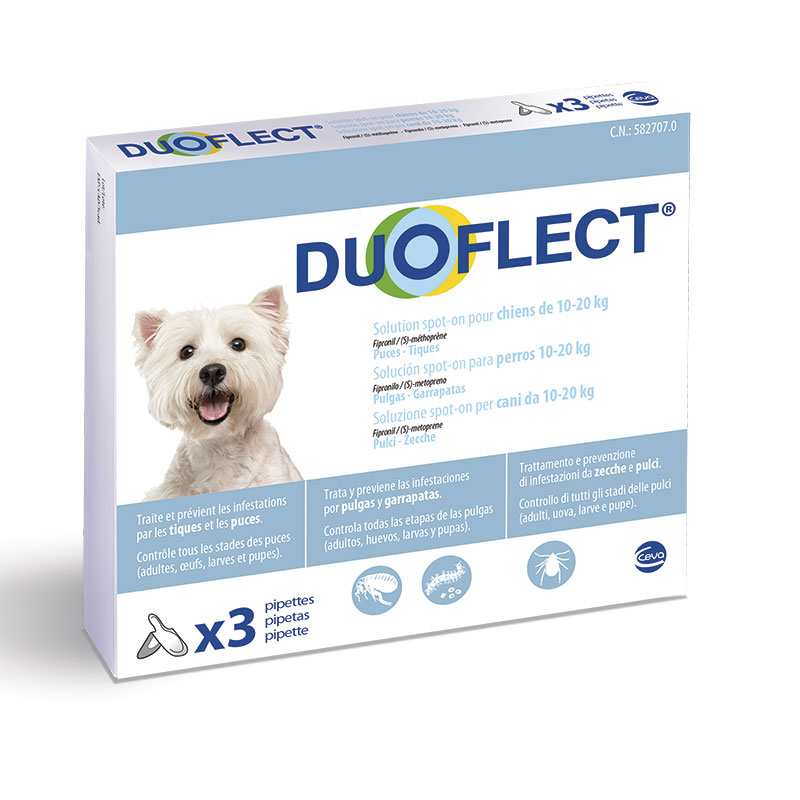 Duoflect Pipettes for Medium Dogs 10-20kg External Antiparasitic
