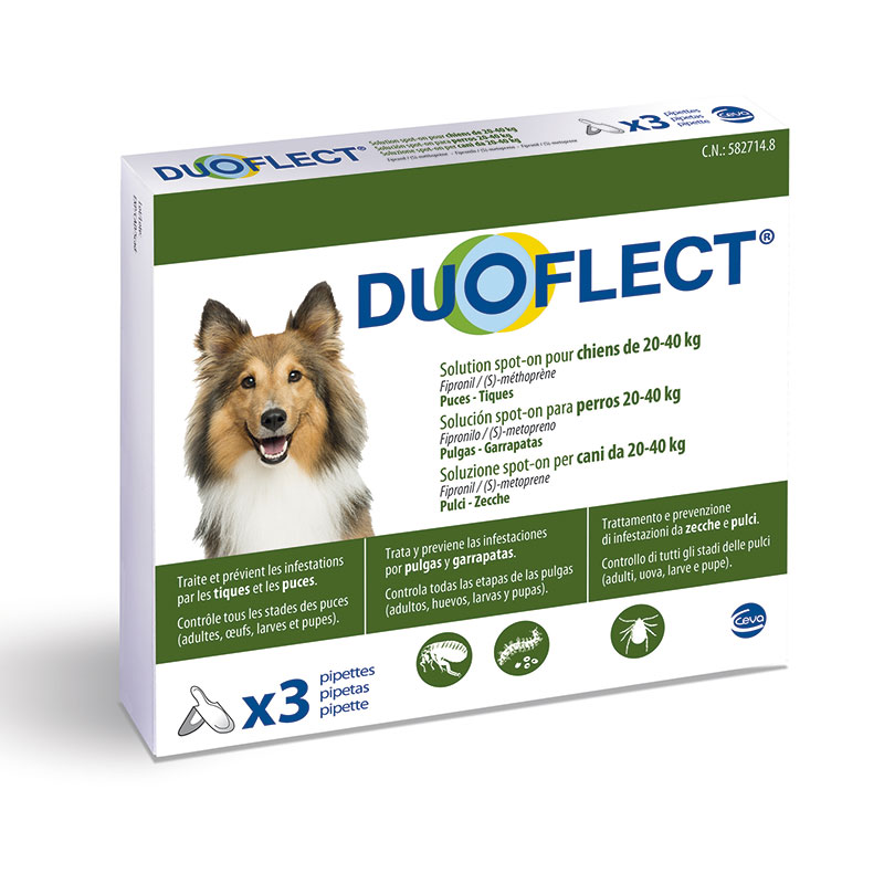 Duoflect Pipettes for Large Dogs 20-40kg External Antiparasitic
