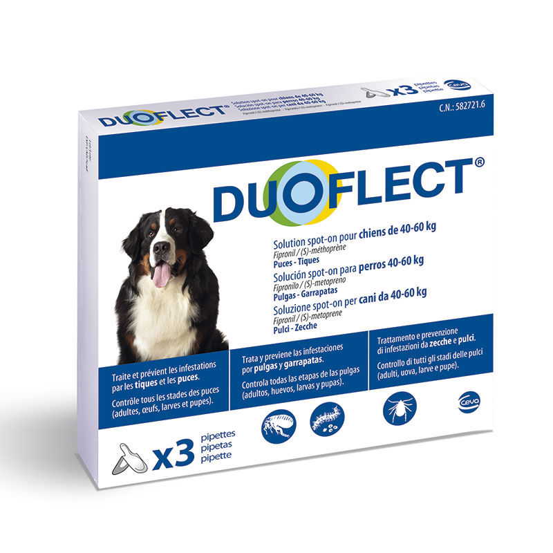 Duoflect Pipettes for Large Dogs 40-60kg External Antiparasitic