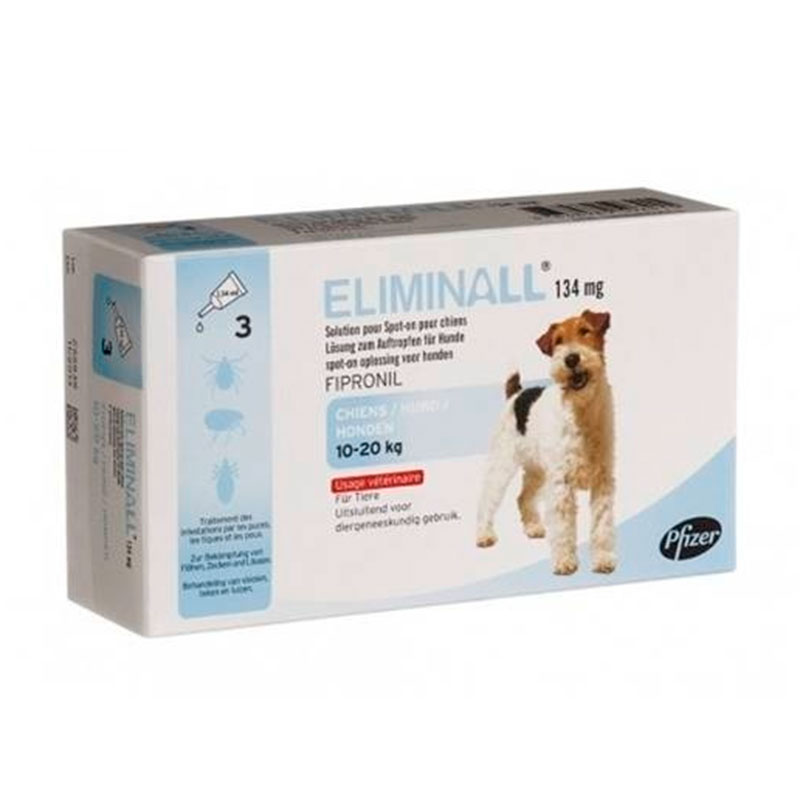 External Antiparasitic Eliminall for Dogs 10-20Kg