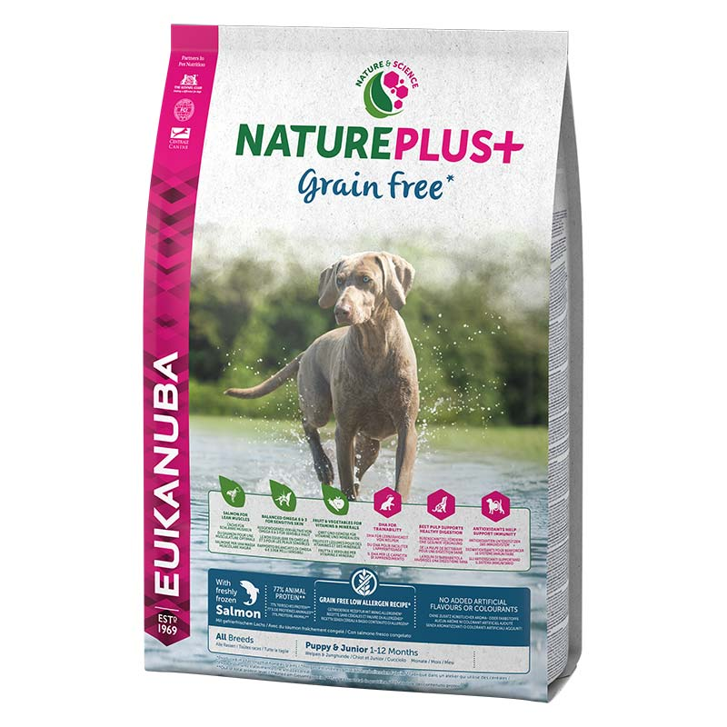 Eukanuba NaturePlus Grain Free Puppy Salmón
