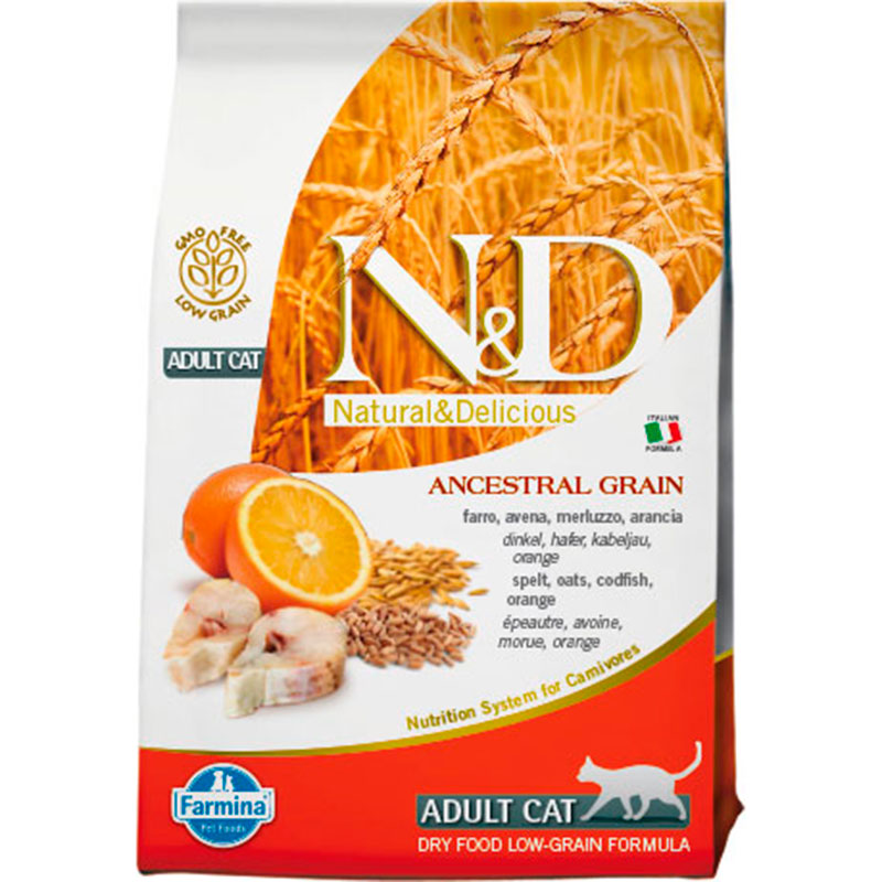 Farmina N&D Low Grain Adult Cat Pescado
