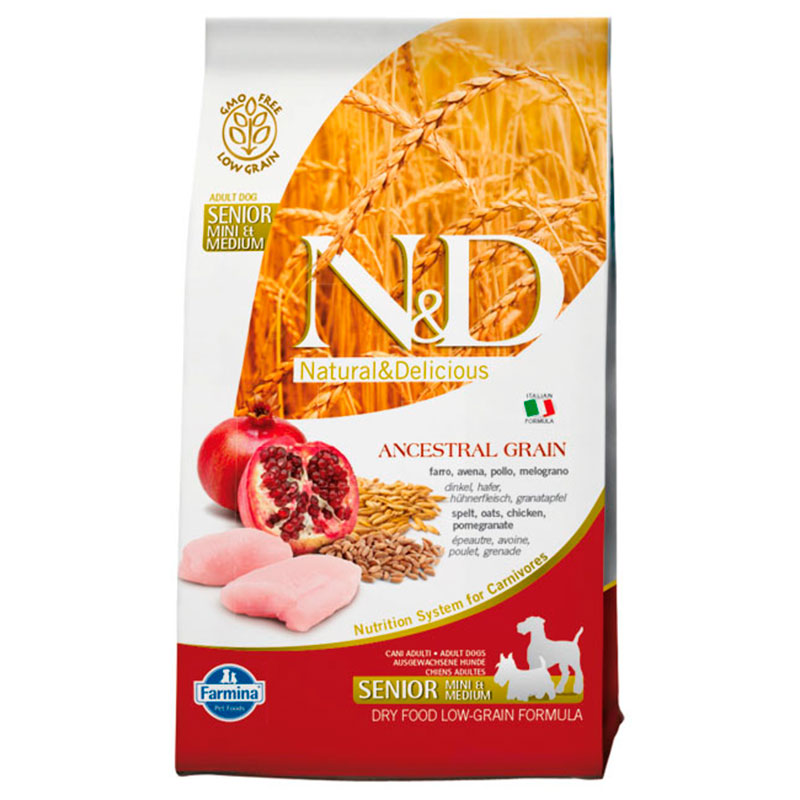 Farmina N&D Low Grain Adult Mini-Medium Pollo Senior
