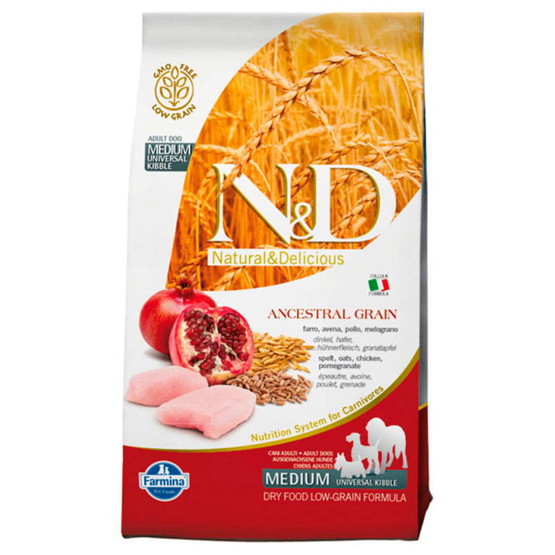 Farmina N&D Low Grain Ancestral Adult Medium Maxi Chicken