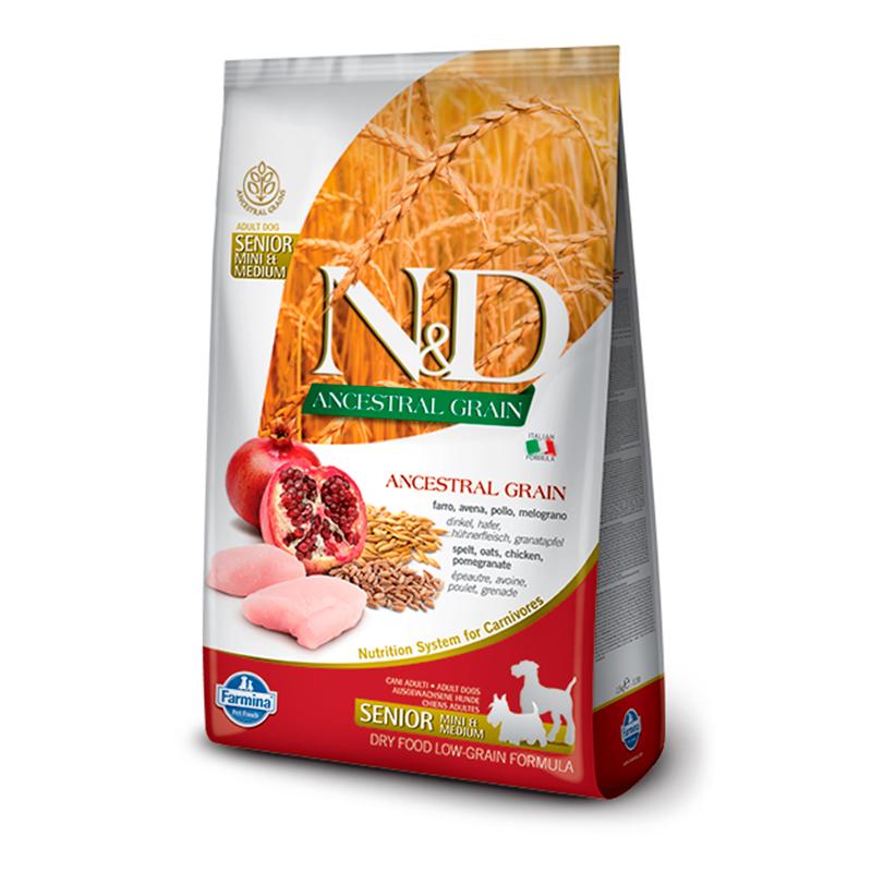 Farmina N&D Low Grain Ancestral Adult Medium-Maxi Pollo Senior