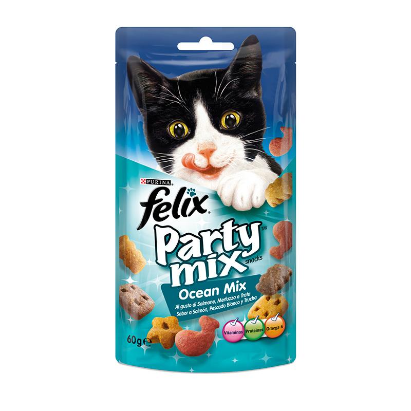 Лакомство Felix Party Mix Гриль микс Говядина Курица Лосось 60g для кошек 12234059
