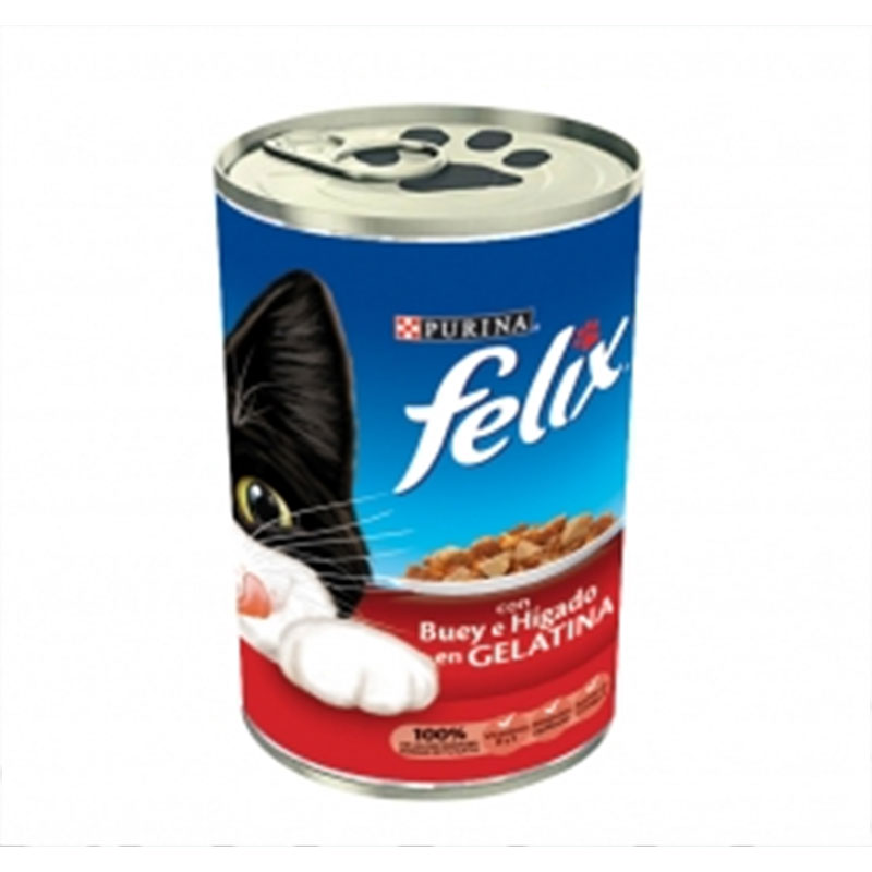 Felix Cat Tin Ox and Liver in Jelly