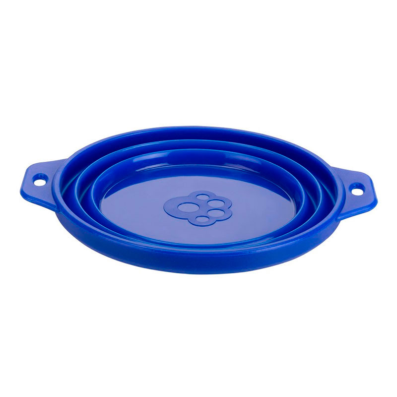 Ferplast Bebedero/Comedero Plegable Travel Bowl Azul