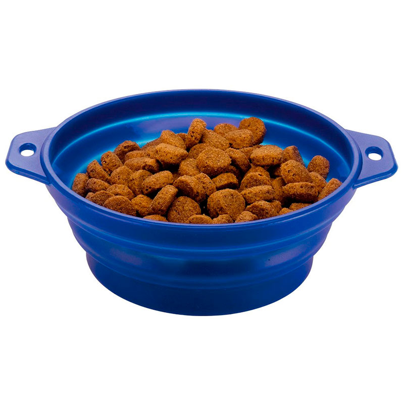 Ferplast Drinker/Feeder Collapsible Travel Bowl Blue