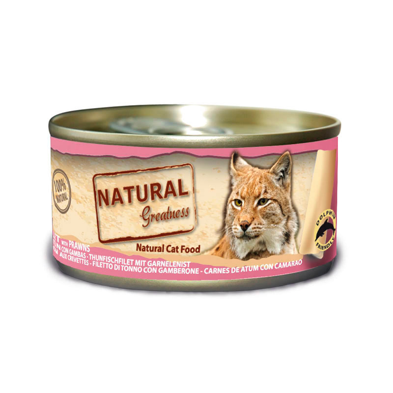 Natural Greatness Can Cat Tuna with Prawns