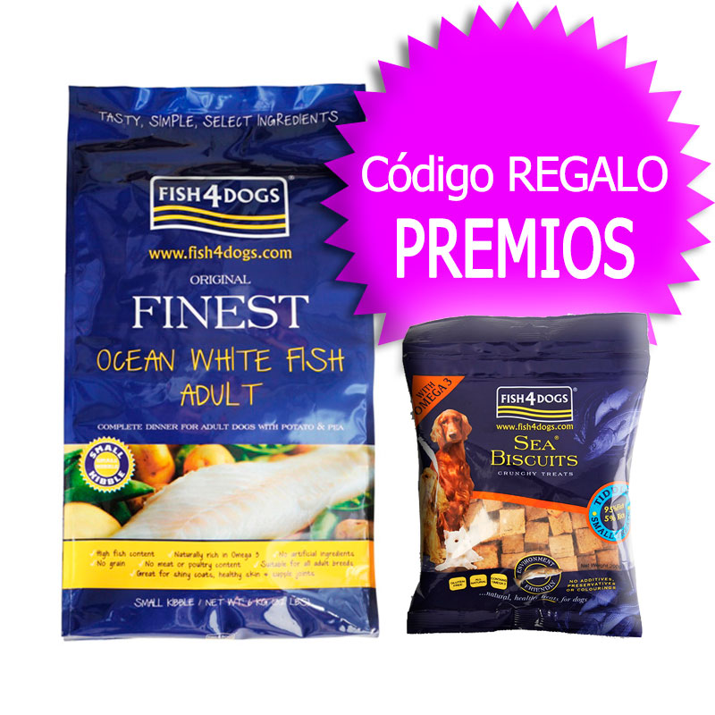 Finest Fish4Dogs Adult Ocean White Fish Mini 6Kg+Coupon