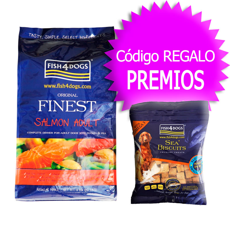 Finest Fish4Dogs Salmon Adult 12Kg+Coupon