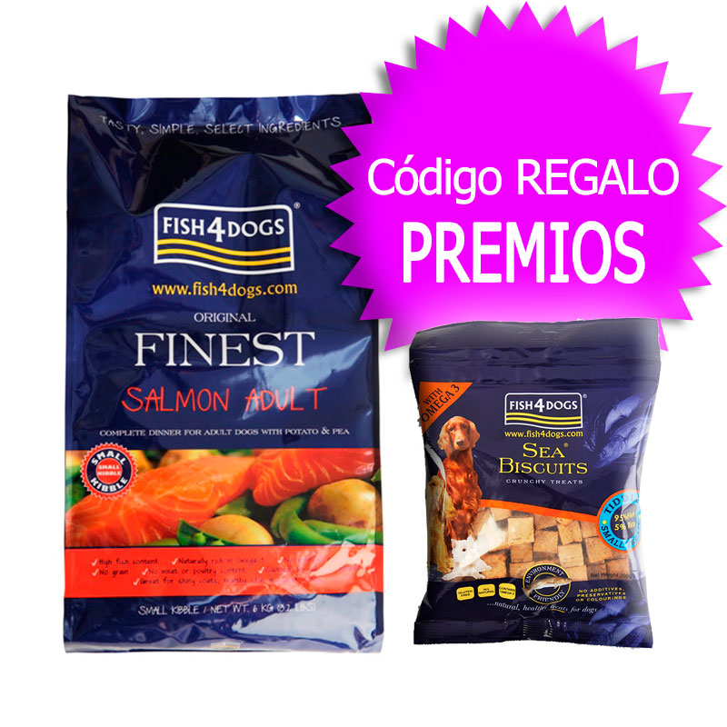 Finest Fish4Dogs Salmon Adult Mini 6kg+Coupon