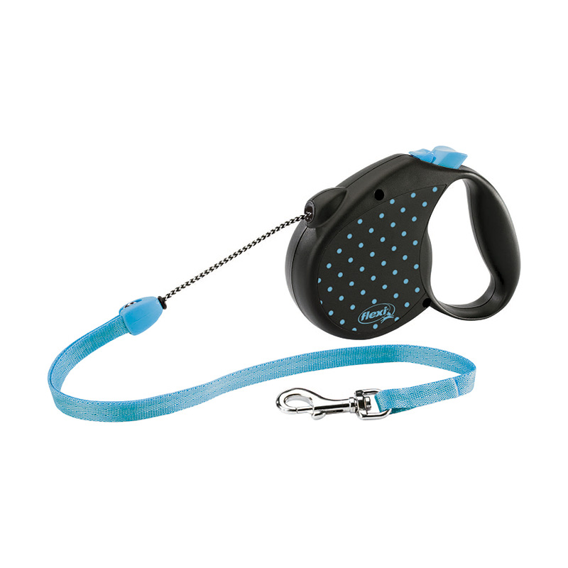 Retractable Leash flexi Color Dots Blue