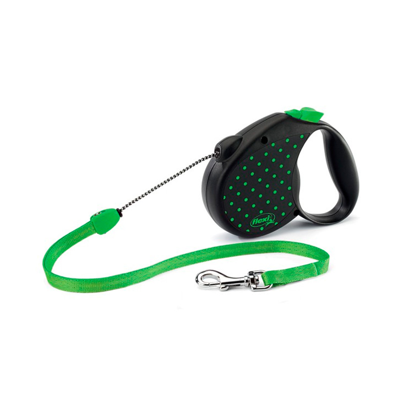 Retractable Leash flexi Color Dots Green