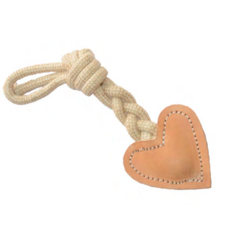 Freedog Dog Toy Leather Heart