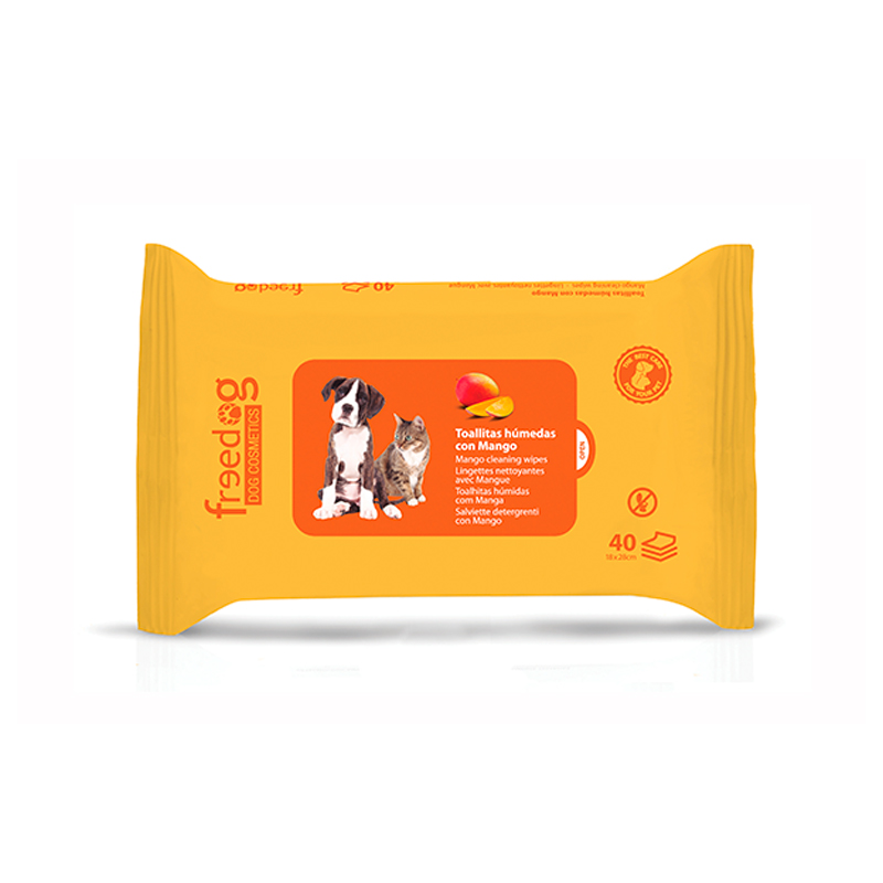 Mango Cleaning Wipes 40 units Freedog