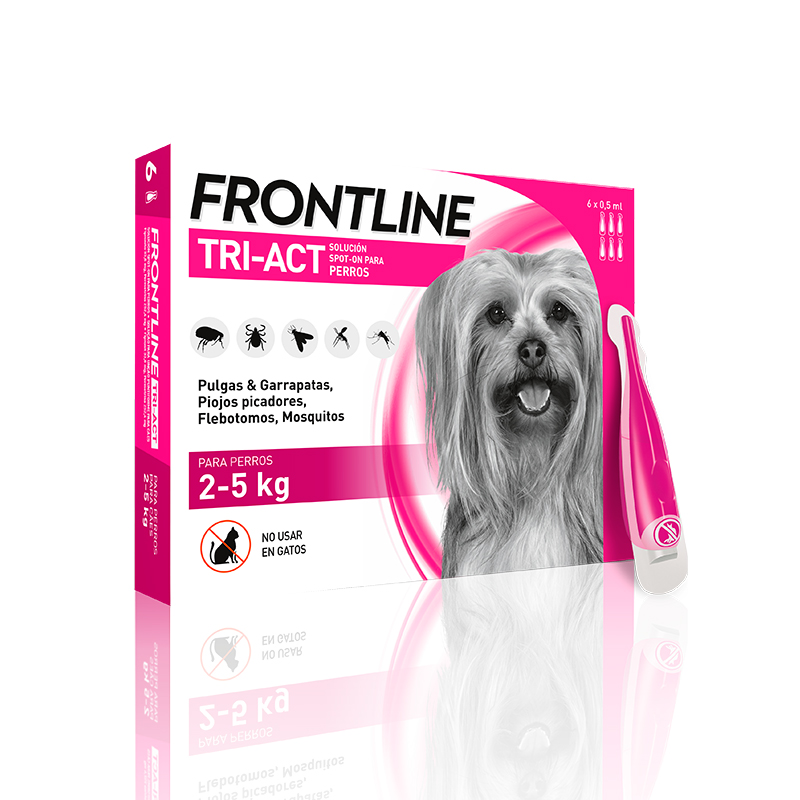 External Antiparasitic Frontline Tri-Act Spot on for Dogs 2-5Kg