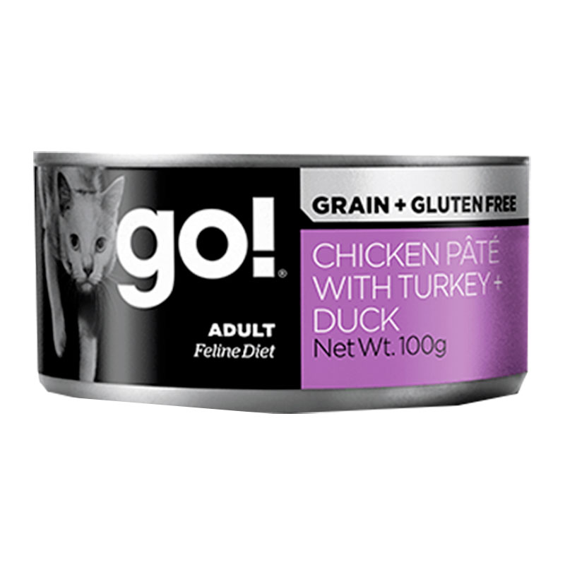 Petcurean Go! Cat Fit + Free GF Chicken, Turkey & Duck Can
