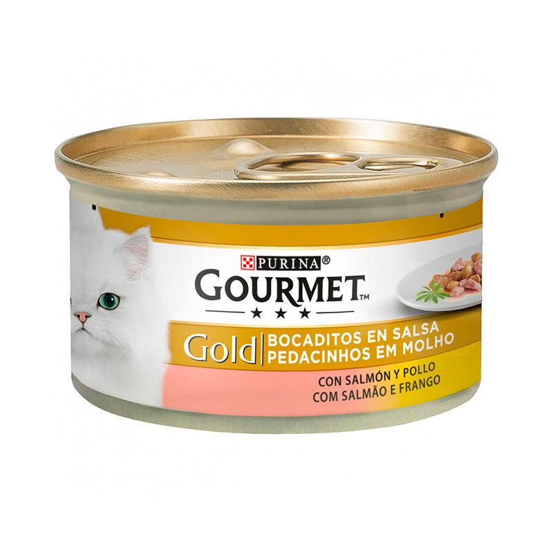 Gourmet Gold Chunks in Gravy with Salmon & Chicken