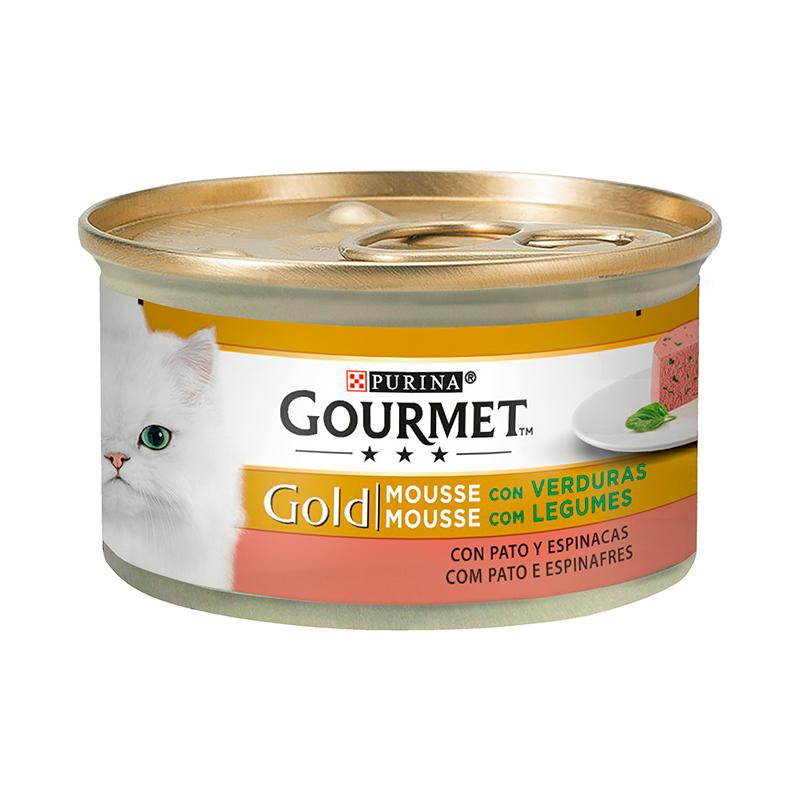 Gourmet Gold Mousse with Duck & Spinach