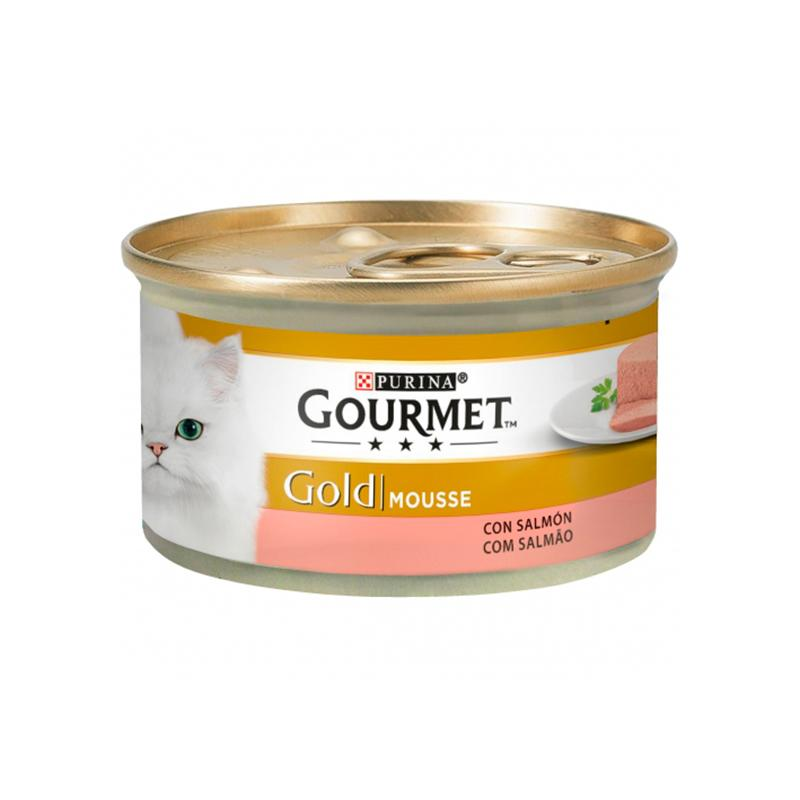 Gourmet Gold Mousse with Salmon