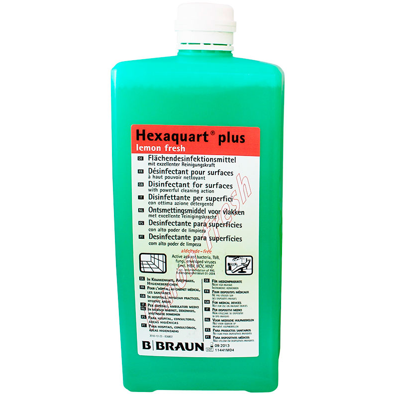 Desinfectante de superficies Hexaquart plus lemon
