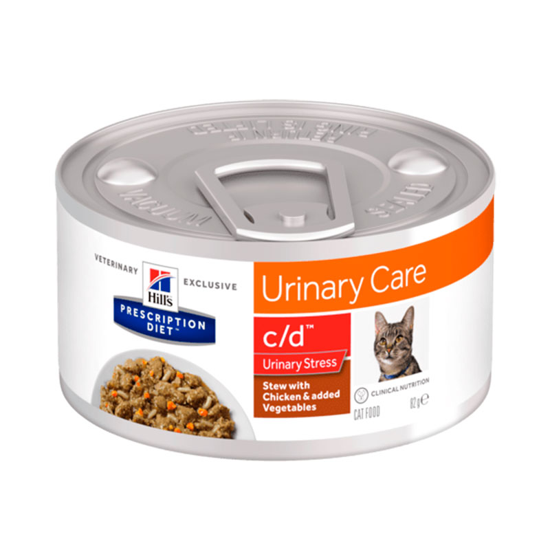 Hill's Feline c/d Urinary Stress Stew with Chicken & Vegetables