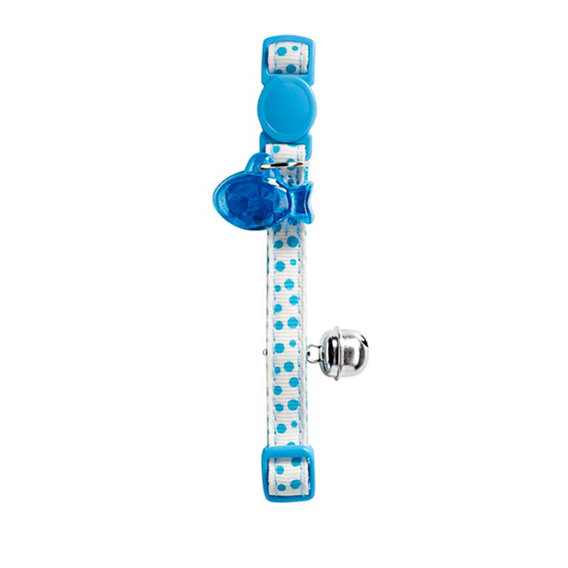 Hunter Cat Collar Baby Dots Blue