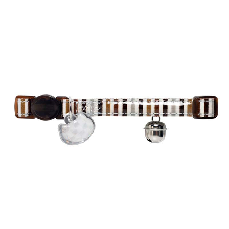 Hunter Cat Collar Glossy Stripes Brown