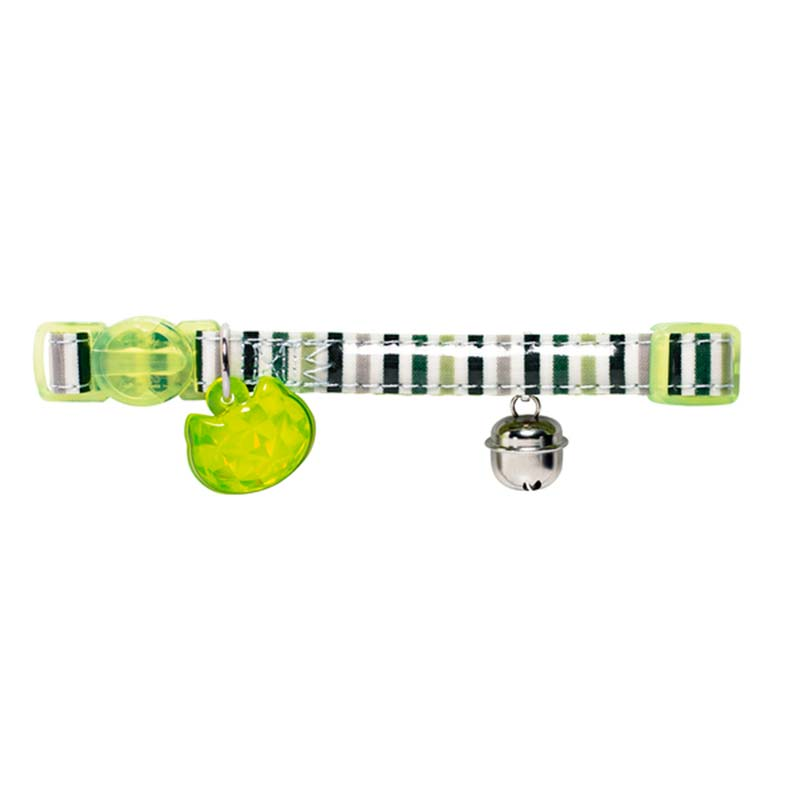 Hunter Collar Gato Glossy Stripes Verde
