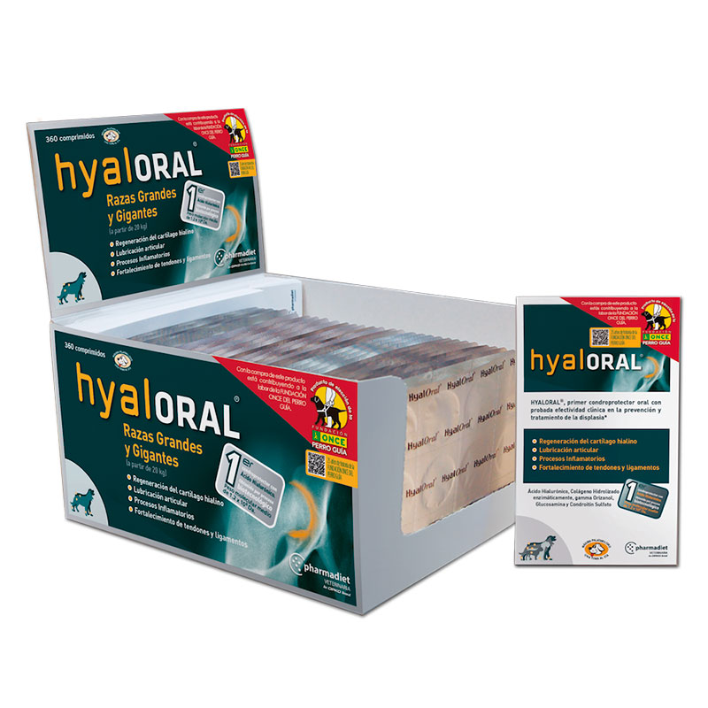 Joint Supplement Hyaloral Large and Giants Breed  Individual Tab