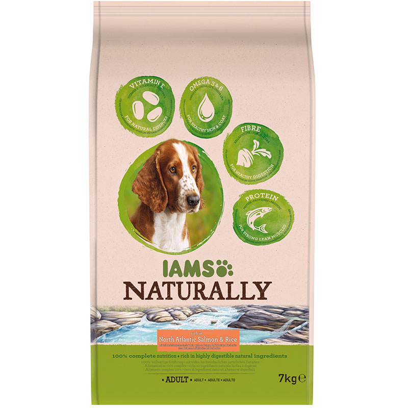 IAMS Naturally Adult Dog Salmon & Rice